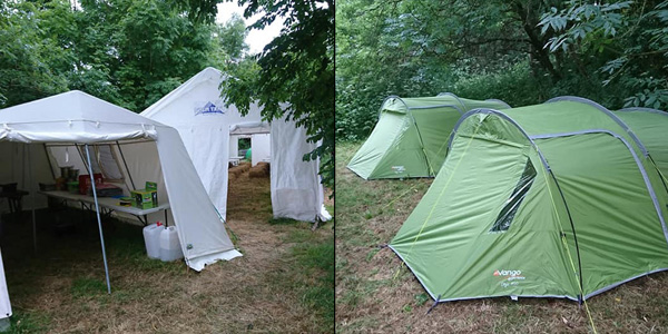 Pill Farm Trelissick Gardens Summer Camp Tents